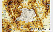 Shaded Relief Map of Kicevo, physical outside