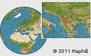 Satellite Location Map of Oslomej