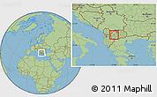 Savanna Style Location Map of Oslomej
