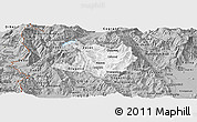 Gray Panoramic Map of Kicevo