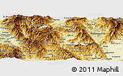 Physical Panoramic Map of Kicevo