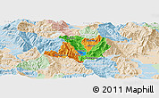 Political Panoramic Map of Kicevo, lighten