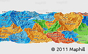 Political Panoramic Map of Kicevo, political shades outside