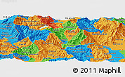 Political Panoramic Map of Kicevo