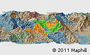 Political Panoramic Map of Kicevo, semi-desaturated
