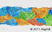 Political Shades Panoramic Map of Kicevo