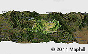 Satellite Panoramic Map of Kicevo, darken