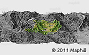 Satellite Panoramic Map of Kicevo, desaturated