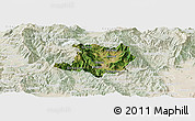 Satellite Panoramic Map of Kicevo, lighten