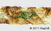 Satellite Panoramic Map of Kicevo, physical outside