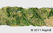 Satellite Panoramic Map of Kicevo