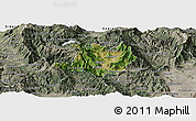 Satellite Panoramic Map of Kicevo, semi-desaturated