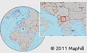 Gray Location Map of Vranestica