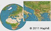 Satellite Location Map of Vranestica