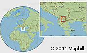 Savanna Style Location Map of Vranestica