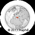 Outline Map of Vranestica