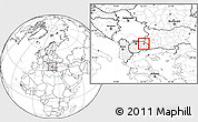 Blank Location Map of Kocani