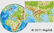Physical Location Map of Kocani