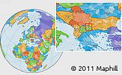 Political Location Map of Kocani