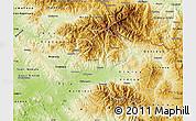 Physical Map of Kocani