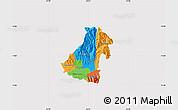 Political Map of Kocani, cropped outside