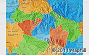 Political Shades Map of Kocani