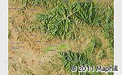 Satellite Map of Kocani