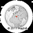 Outline Map of Kocani