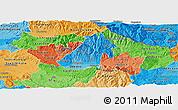Political Shades Panoramic Map of Kocani