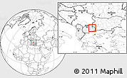 Blank Location Map of Zmoveci