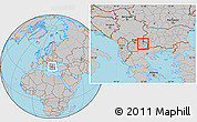 Gray Location Map of Zmoveci