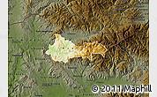 Physical Map of Kratovo, darken