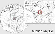 Blank Location Map of Kriva Palanka