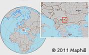 Gray Location Map of Kriva Palanka