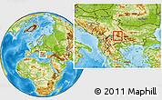 Physical Location Map of Kriva Palanka