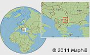 Savanna Style Location Map of Kriva Palanka