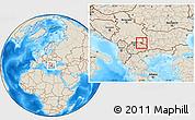 Shaded Relief Location Map of Kriva Palanka