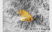 Physical Map of Kriva Palanka, desaturated