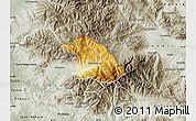Physical Map of Kriva Palanka, semi-desaturated