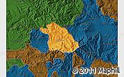 Political Map of Kriva Palanka, darken