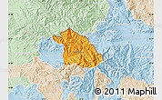 Political Map of Kriva Palanka, lighten