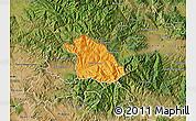 Political Map of Kriva Palanka, satellite outside