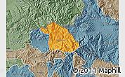 Political Map of Kriva Palanka, semi-desaturated