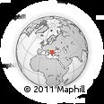 Outline Map of Kriva Palanka