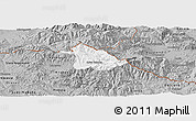 Gray Panoramic Map of Kriva Palanka
