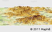 Physical Panoramic Map of Kriva Palanka