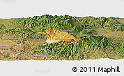 Physical Panoramic Map of Kriva Palanka, satellite outside
