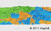 Political Panoramic Map of Kriva Palanka