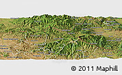 Satellite Panoramic Map of Kriva Palanka