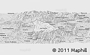 Silver Style Panoramic Map of Kriva Palanka